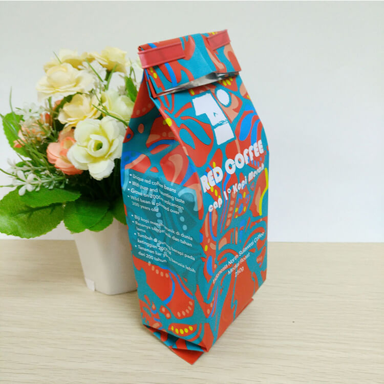 500g 1kg 2kg Custom Printed Aluminum Foil Tin Tie Coffee Bean Packing Pouch/Side Gusset Packaging Bag with Valve