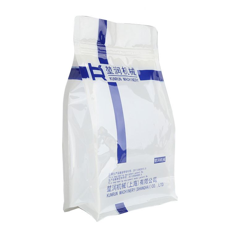 Quad Seal Dry Fruit Bag With Stand Up Zipper Sealing Bags Of Flat Bottom Pouch
