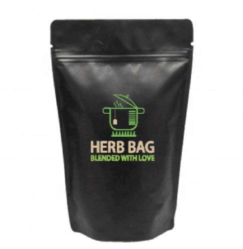 Customised Herb Food Dried Food Bags Black Aluminum Foil Stand Up Pouch