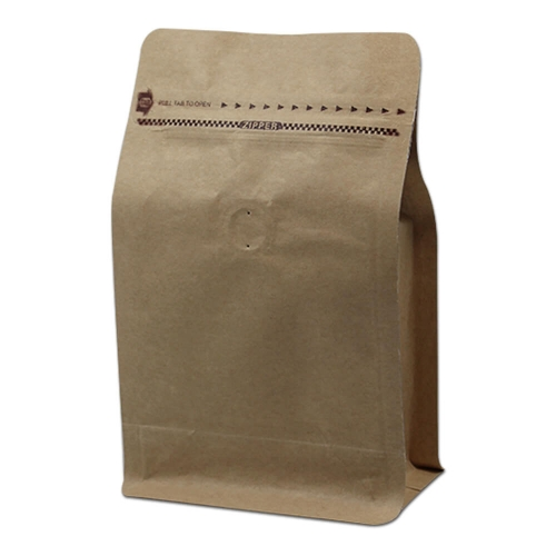 Wholesale Cheap Custom Printing Aluminum Foil Lined Kraft Paper Side Gusset Coffee Packaging Bag With Valve