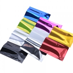 Colorful Small Silver Color Three Side Sealed Aluminum Mylar Foil Food Packaging Bags