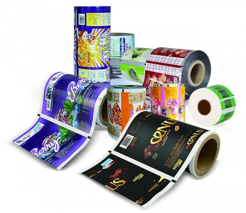 custom printing flexible laminating food packaging plastic roll film