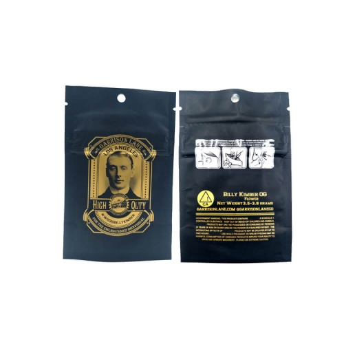 Custom label printed matt surface paper plastic pouch shatter cigar opaque ziplock bags