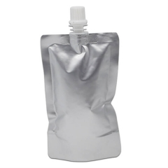 Custom printed stand up drink pouch aluminum foil packaging juice spout pouch with corner spout