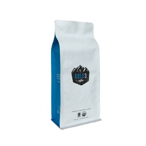 Free Sample Wholesale Custom 8 Side Seal Matt White Side Gusset Coffee Packaging Bag With Valve