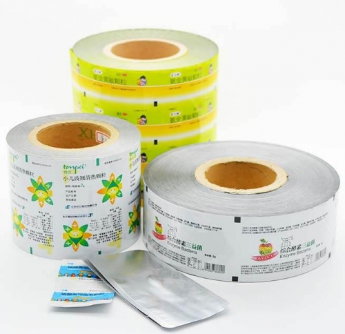 plastic coated aluminum foil packaging roll