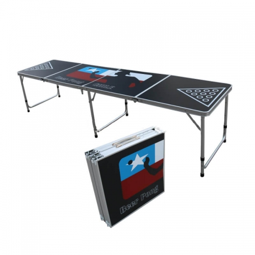 Folded portable aluminium Beer pong table Outdoor play game table